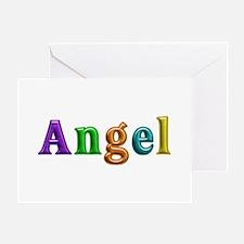 Angel Shiny Colors Greeting Card