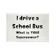 school bus Rectangle Magnet