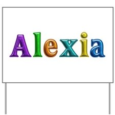Alexia Shiny Colors Yard Sign