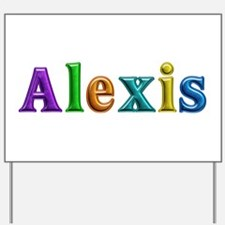 Alexis Shiny Colors Yard Sign