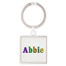 Abbie Shiny Colors Square Keychain