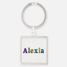 Alexia Shiny Colors Square Keychain