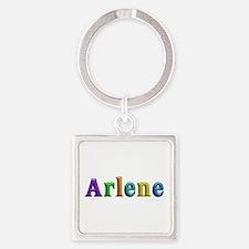 Arlene Shiny Colors Square Keychain