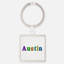 Austin Shiny Colors Square Keychain