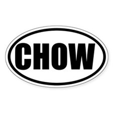 Chow Oval Decal