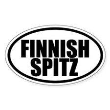 Finnish Spitz Oval Decal