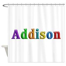 Addison Shiny Colors Shower Curtain