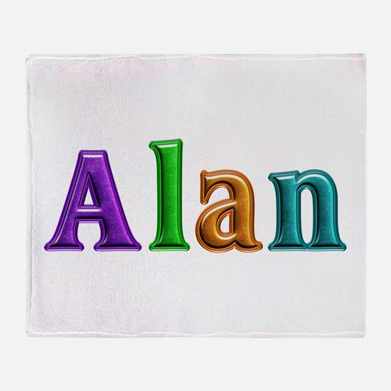 Alan Shiny Colors Throw Blanket