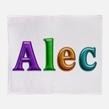 Alec Shiny Colors Throw Blanket
