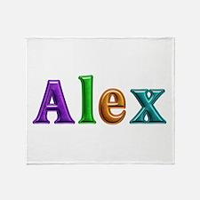 Alex Shiny Colors Throw Blanket
