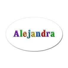 Alejandra Shiny Colors 20x12 Oval Wall Decal