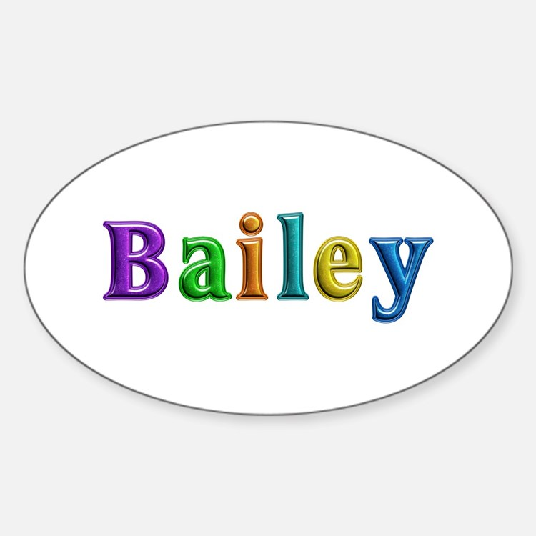 Bailey Shiny Colors Oval Decal