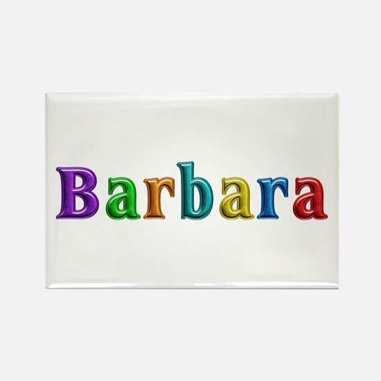 Barbara Shiny Colors Rectangle Magnet