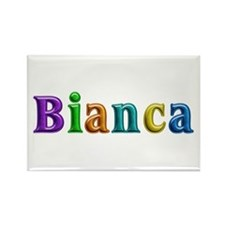 Bianca Shiny Colors Rectangle Magnet