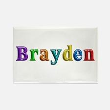 Brayden Shiny Colors Rectangle Magnet