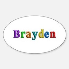 Brayden Shiny Colors Oval Decal