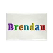 Brendan Shiny Colors Rectangle Magnet
