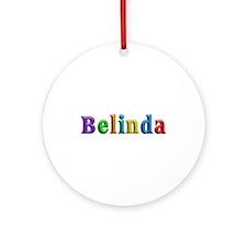 Belinda Shiny Colors Round Ornament