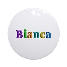 Bianca Shiny Colors Round Ornament