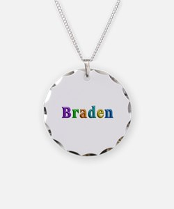 Braden Shiny Colors Necklace Circle Charm
