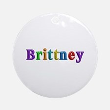 Brittney Shiny Colors Round Ornament