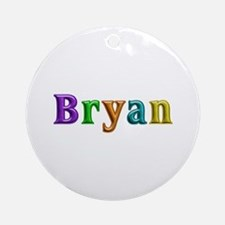 Bryan Shiny Colors Round Ornament