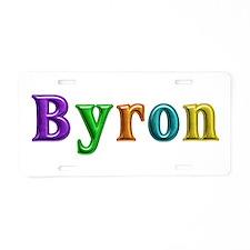 Byron Shiny Colors Aluminum License Plate