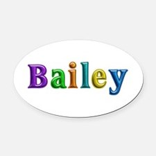Bailey Shiny Colors Oval Car Magnet