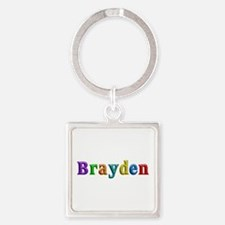 Brayden Shiny Colors Square Keychain