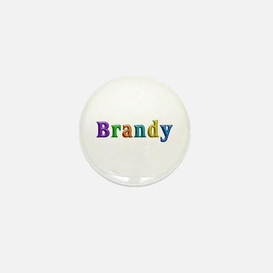 Brandy Shiny Colors Mini Button