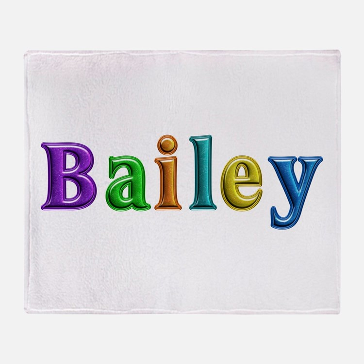 Bailey Shiny Colors Throw Blanket