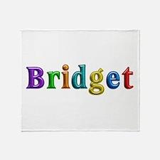 Bridget Shiny Colors Throw Blanket