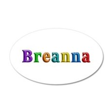Breanna Shiny Colors Wall Decal