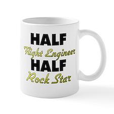 Half Flight Engineer Half Rock Star Mugs