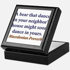 A Bear That Dances Keepsake Box
