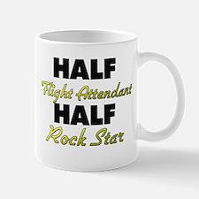 Half Flight Attendant Half Rock Star Mugs