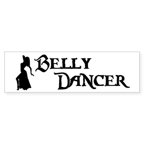 Belly Dancer Pose Bumper Sticker