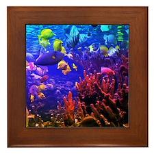 Neon Fish Framed Tile