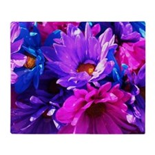 Pink & Purple Flowers Throw Blanket