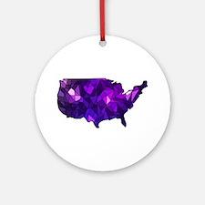 USA - United States Ornament (Round)
