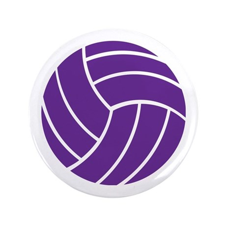 "Volleyball - Sports 3.5"" Button"