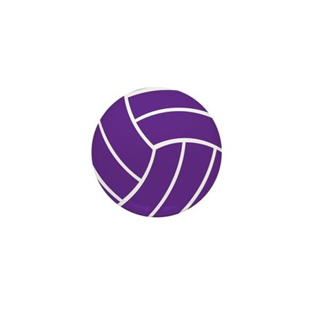 Volleyball - Sports Mini Button (10 pack)