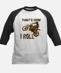 Motorcycle, that's how I roll. Kids Baseball Jers