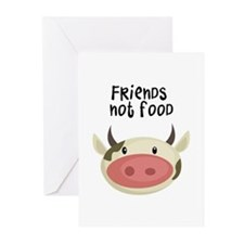 friends not food Greeting Cards