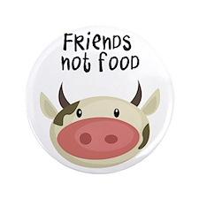 """friends not food 3.5"""" Button"""
