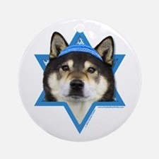 Hanukkah Star of David - Shiba Inu Ornament (Round