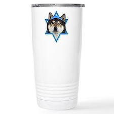 Hanukkah Star of David - Shiba Inu Travel Mug