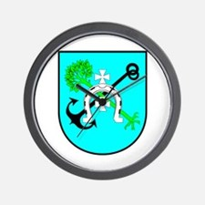 Jedwabne Crest Wall Clock