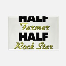 Half Farmer Half Rock Star Magnets