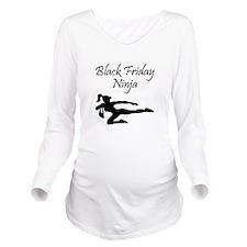 Black Friday Ninja Long Sleeve Maternity T-Shirt